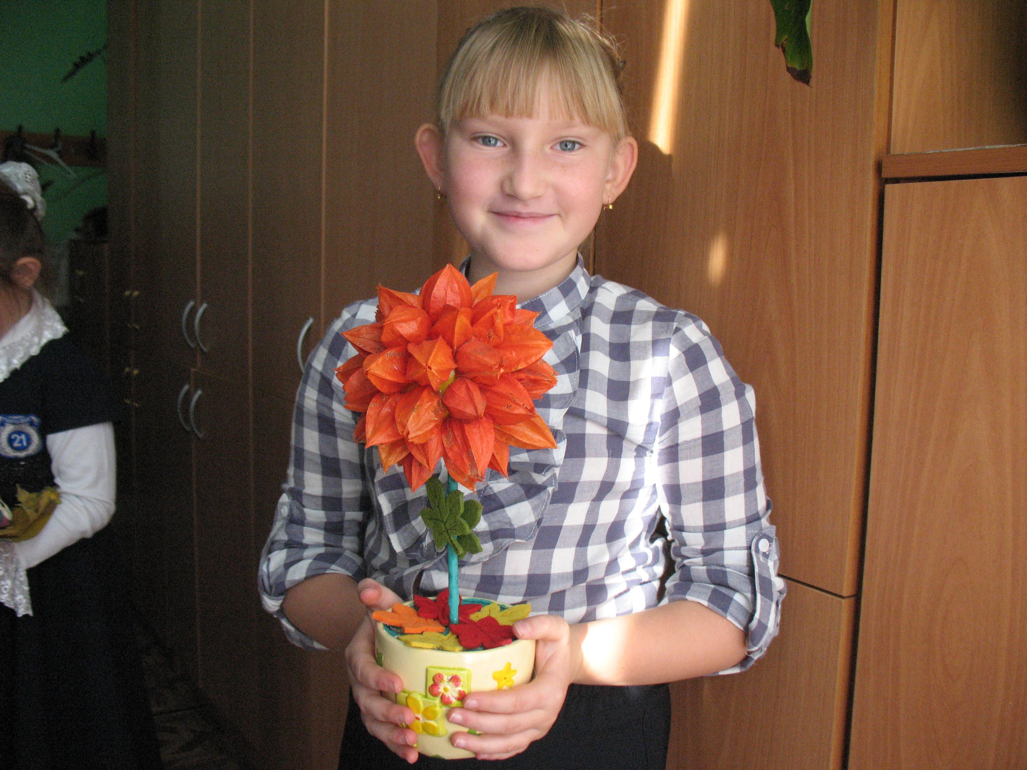 Букет из дачных цветов к 1 сентября своими руками. - Участок и сад 94